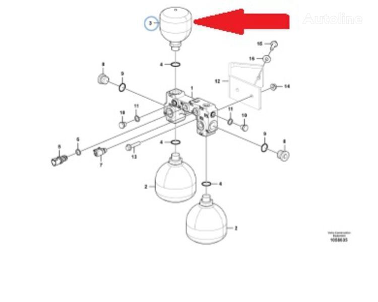 Gidroakamulyator VOE 11173688 (Accumulator) VOLVO spare parts for VOLVO L220 wheel loader