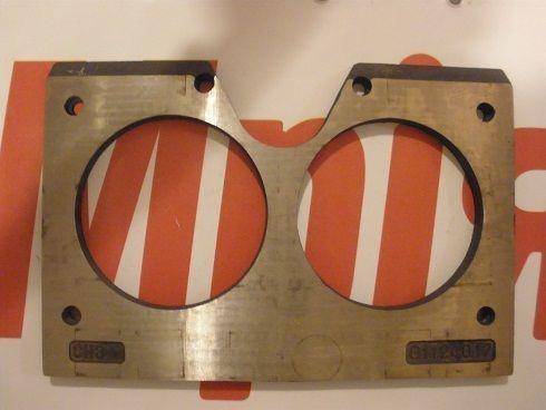 Iznosostoykie (plity treniya) MECBO spectacle wear plate for concrete pump