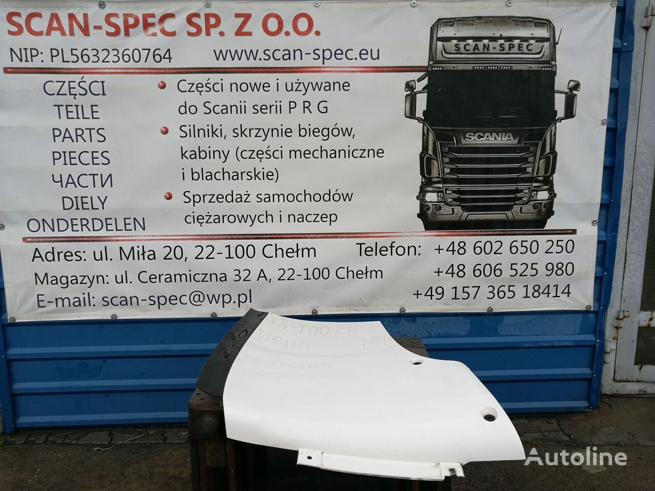 spoiler for SCANIA PRG, P R G T tractor unit