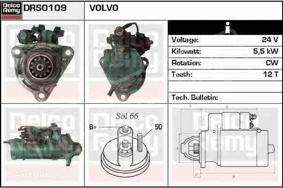 new DELCO REMY DT (20431073) starter for truck
