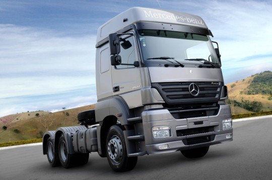 new MERCEDES-BENZ na tyagach Mercedes s alyuminievym bakom. tipper system for tractor unit