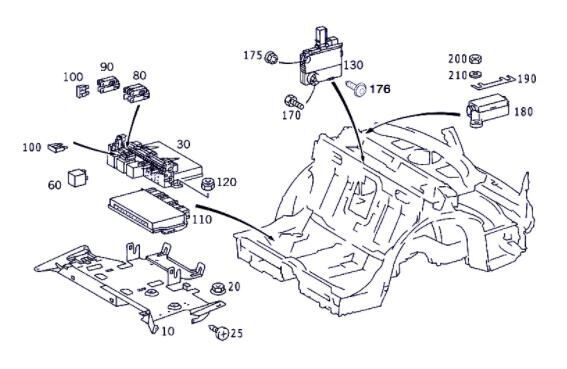 Caja Fusibles/Rele Mercedes-Benz Clase S Berlina (BM 220)(1998-> (A 002 545 22 01) understeering switch for MERCEDES-BENZ Clase S Berlina (BM 220)(1998->) 3.2 320 CDI (220.026) [3,2 Ltr. - 145 kW CDI CAT] automobile