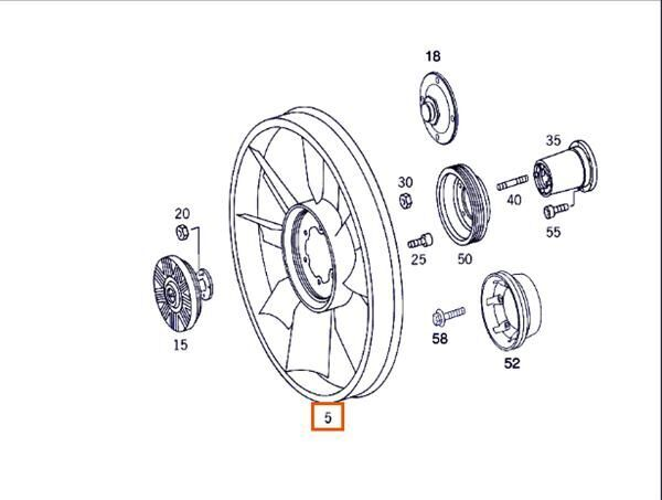 viscous coupling for MERCEDES-BENZ Atego 4-Cilindros 4x2/BM 970/2/5/6 815 (4X2) OM 904 LA [4,3 Ltr. - 112 kW Diesel (OM 904 LA)] truck