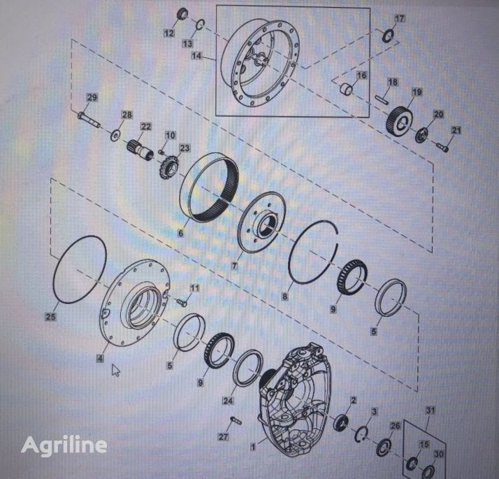 (R334386) wheel hub for JOHN DEERE 8345R 8270R 8295R 8320R  tractor