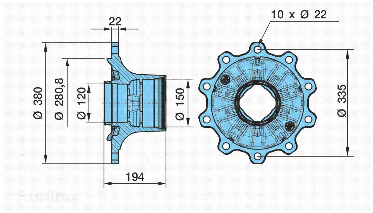 BPW ECO Plus 2 (0327243280) wheel hub for semi-trailer
