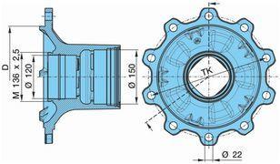 KRONE 0327243140. 0980106580 BPW KURTSAN wheel hub for KRONE bpw semi-trailer