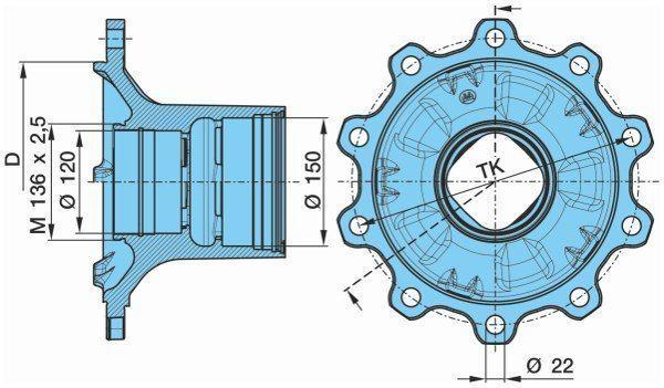 new KRONE 0327243140. 0980106580 BPW KURTSAN wheel hub for KRONE bpw semi-trailer