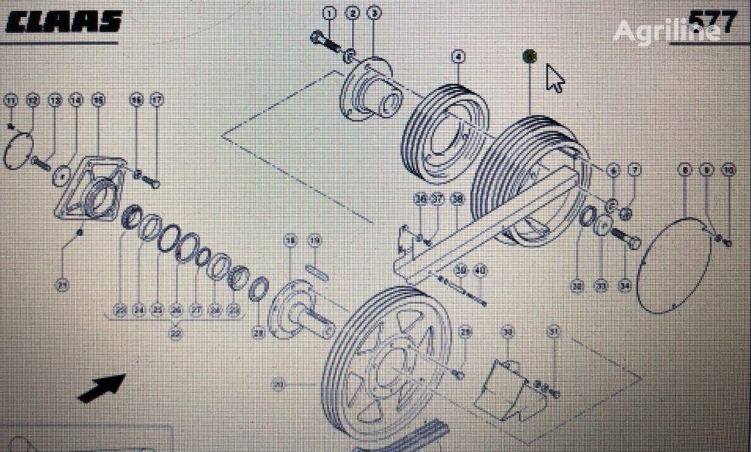 zaciskająca (00 0667 426 0) wheel hub for CLAAS Lexion 580 670 750 tractor