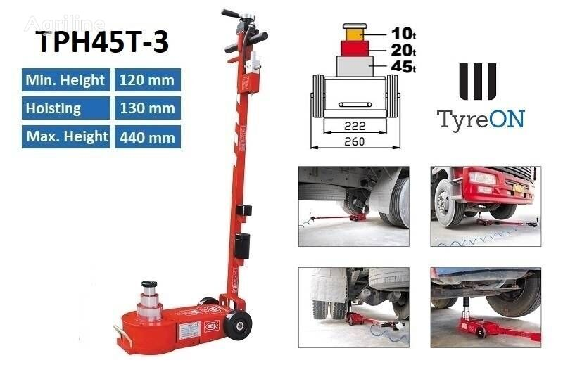 new TyreOn TPH45T-3   Air hydraulic truck jack   45T tire for trailer agricultural machinery
