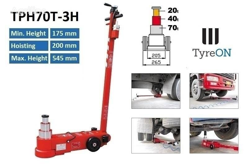 new TyreOn TPH70T-3H   Ar-Hydraulic truck jack - 70T tire for trailer agricultural machinery