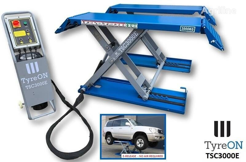 new TyreOn TSC3000E   Car scissor lift   E-release   3000 KG tire for trailer agricultural machinery