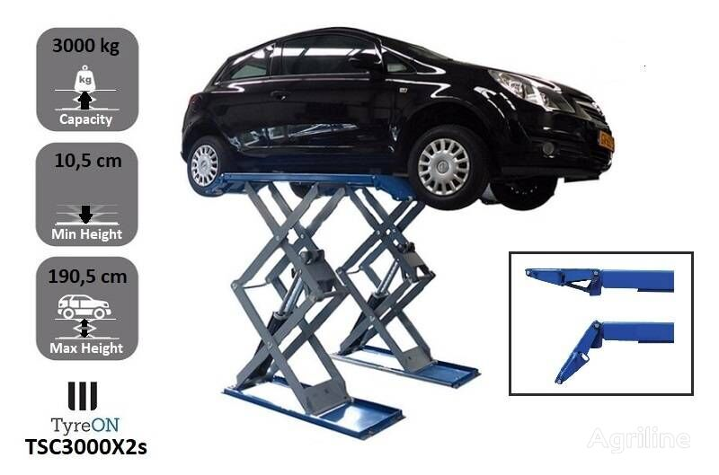 new TyreOn TSC3000X2s  Full rise scissor lift   3000 KG tire for trailer agricultural machinery