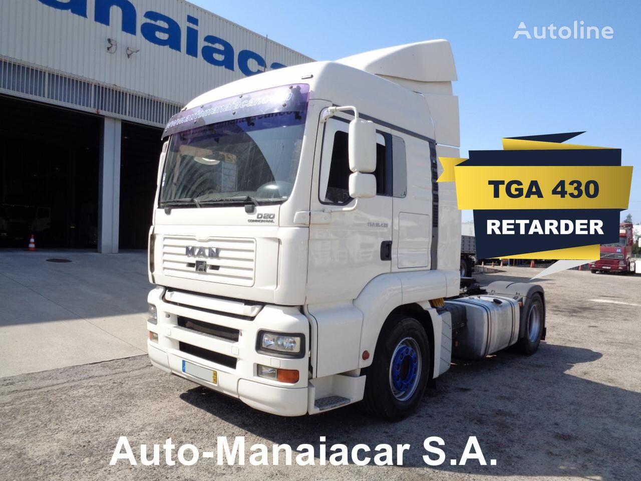 MAN TGA 18.430 C/RETARDER tractor unit