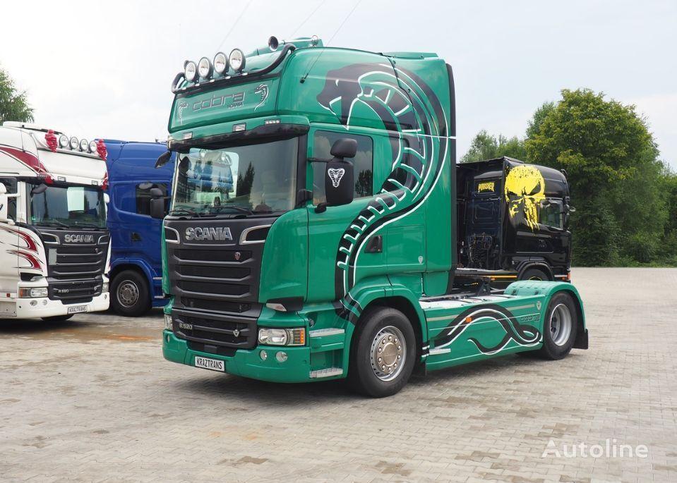 SCANIA R520 z Niemiec serwisowana standard v8 2014 tractor unit