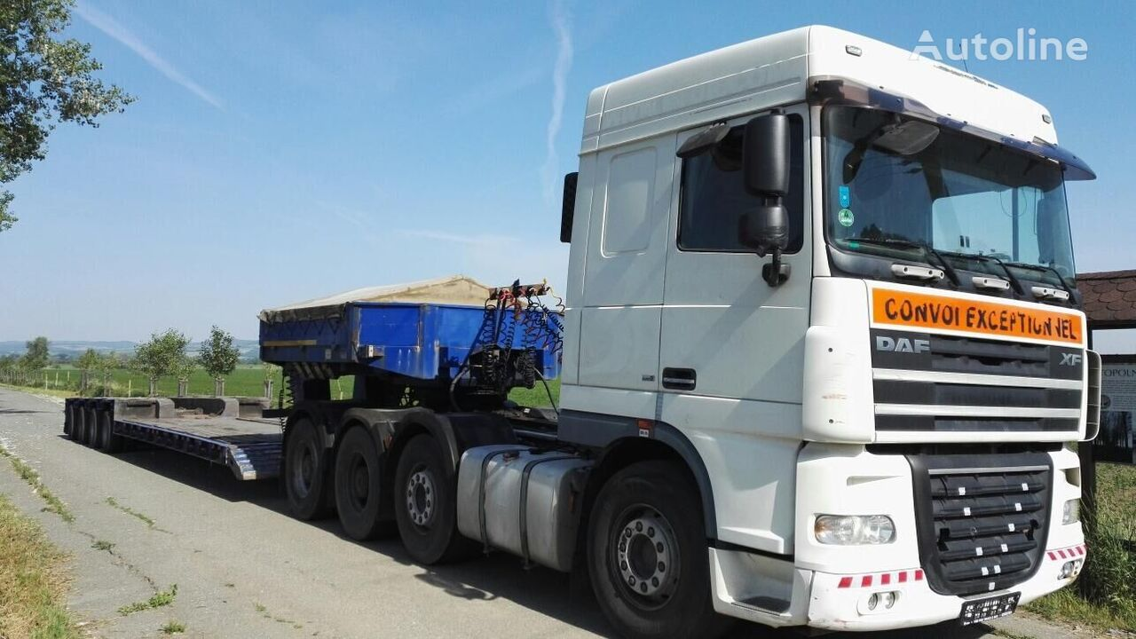 DAF tractor unit + low bed semi-trailer