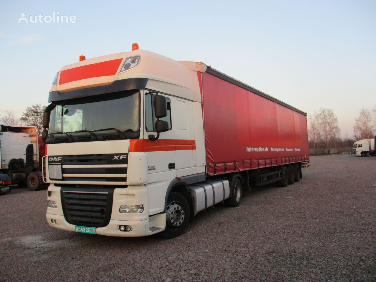 DAF XF 105 tractor unit + tilt semi-trailer