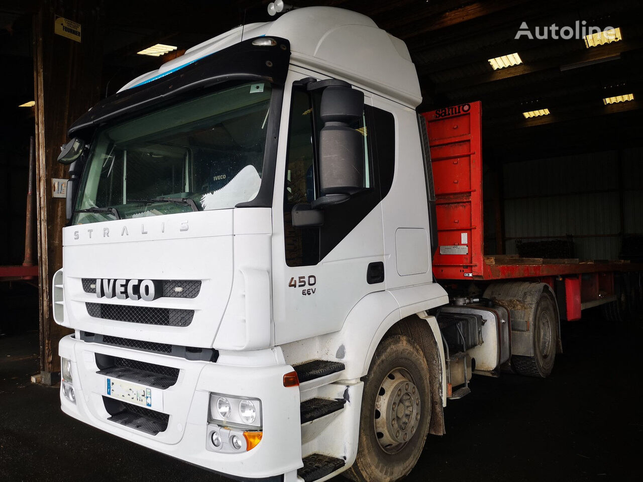IVECO STRALIS AT 450 manual gearbox + hydraulic tractor unit
