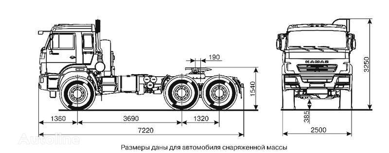 new KAMAZ 44108 (6h6) Sedelnyy tyagach  tractor unit