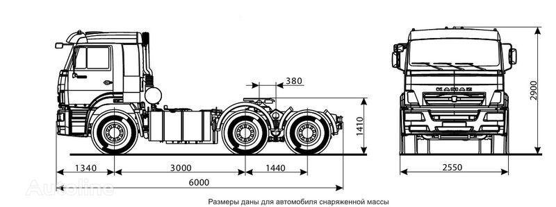 KAMAZ 6460 (6h4) tractor unit