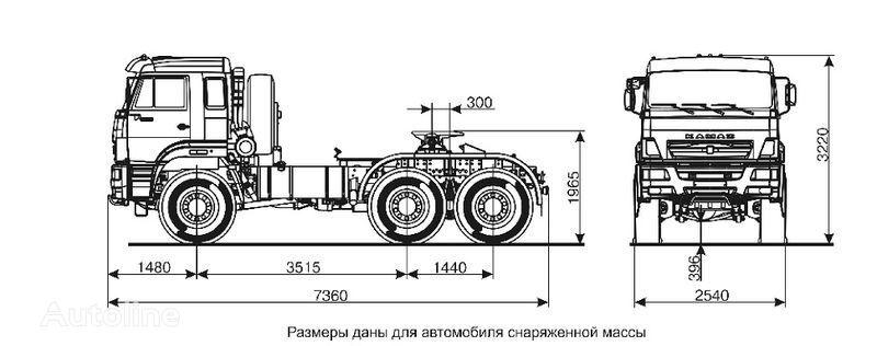 KAMAZ 65221  tractor unit