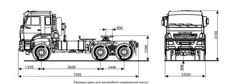 KAMAZ 65225 tractor unit
