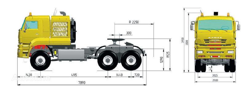 new KAMAZ 65226 (6h6) tractor unit