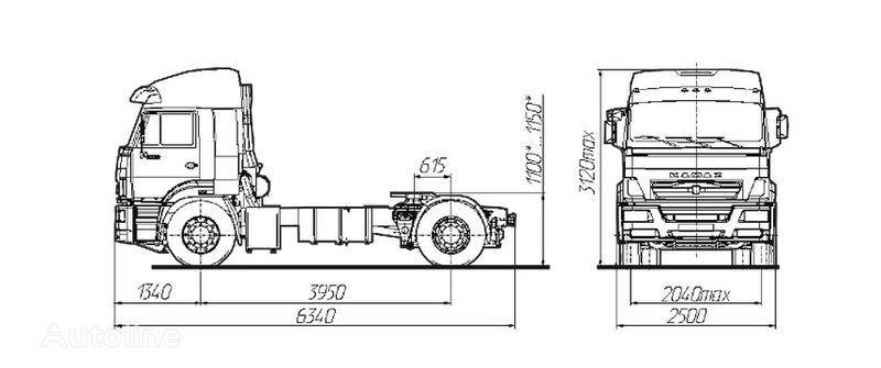 KAMAZ Sedelnyy tyagach KAMAZ-5460 tractor unit