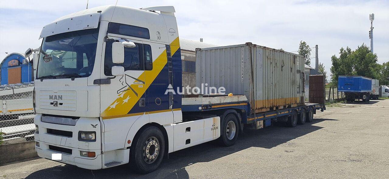 MAN TGA 18.460 tractor unit + low bed semi-trailer