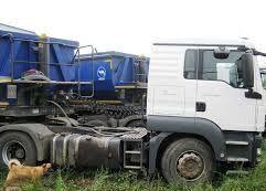 MAN SAMOSVALNAYa SISTEMA HYVA ( Gidravlika na tyagach ) tractor unit