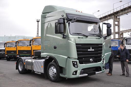 new MAZ tractor unit