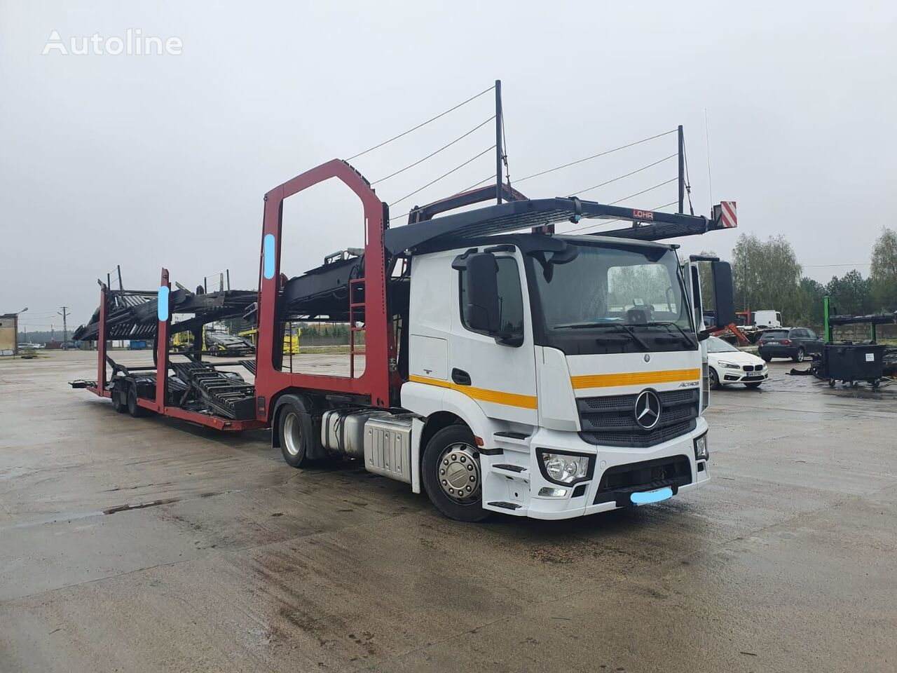 MERCEDES-BENZ Actros 1843 tractor unit + car transporter semi-trailer