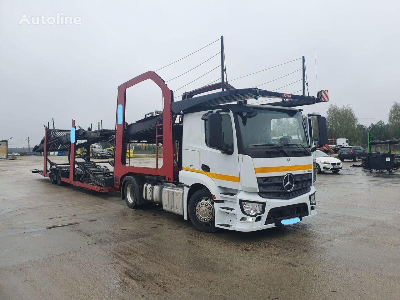 MERCEDES-BENZ Actros 1843 tractor unit + car transporter semi-trailer
