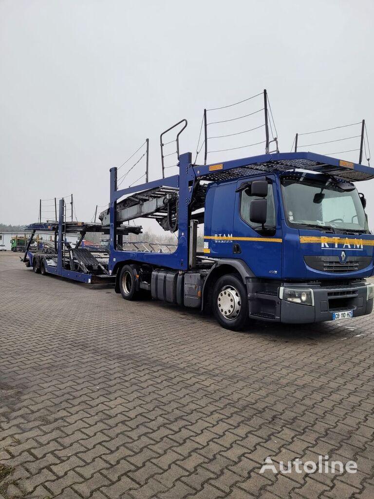 RENAULT PREMIUM 450DXI tractor unit + car transporter semi-trailer