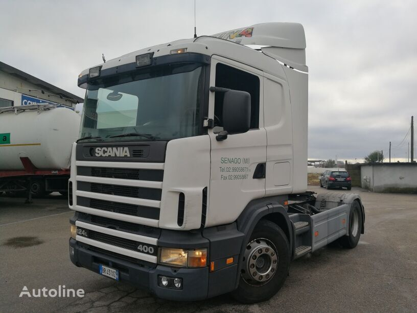 SCANIA CV124.400 R, MANUAL GEAR BOX, MANUAL PUMP, REVISIONE OK!!! tractor unit