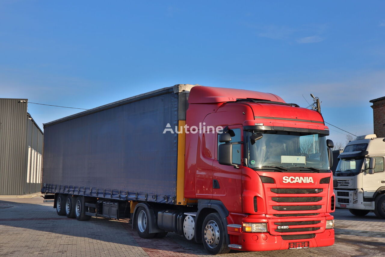 SCANIA G420 tractor unit + curtain side semi-trailer