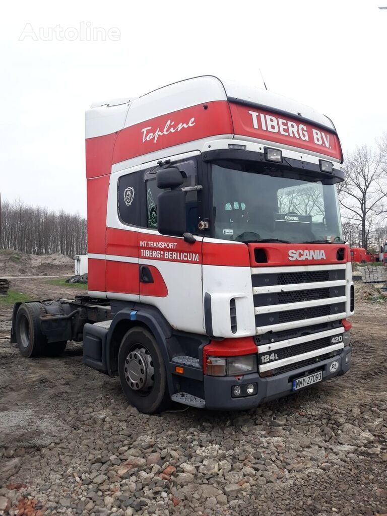 SCANIA L124, 420 KM RETARDER tractor unit