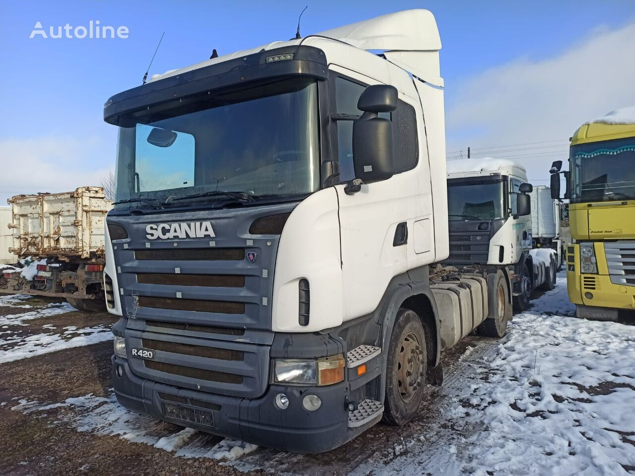 SCANIA R124  tractor unit