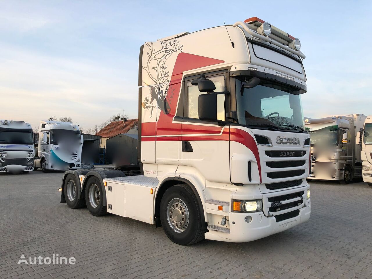 SCANIA R730 V8 2012 RETARDER 6X4 FULL AIR AUTOMAT TV DVD COFFE EXPRESS tractor unit