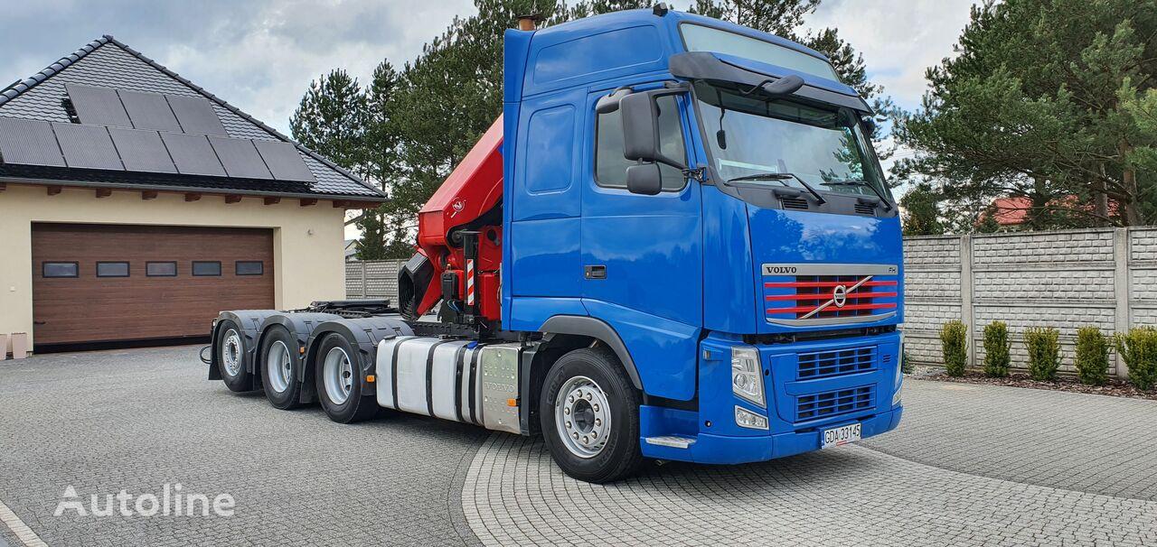 VOLVO FH 500 8x4 + CRAN HMF 5020 16.7 m - 2150 kg  tractor unit