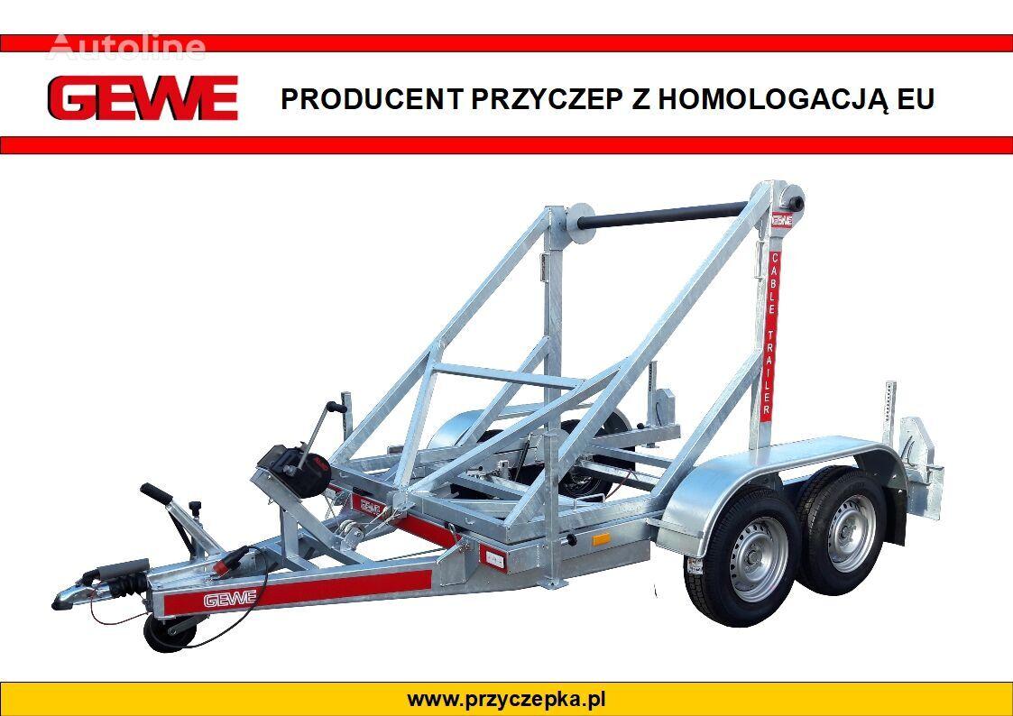 new GEWE Przyczepa kablowa P3500 D/1 do przewozu bębnów kablowych  cable trailer