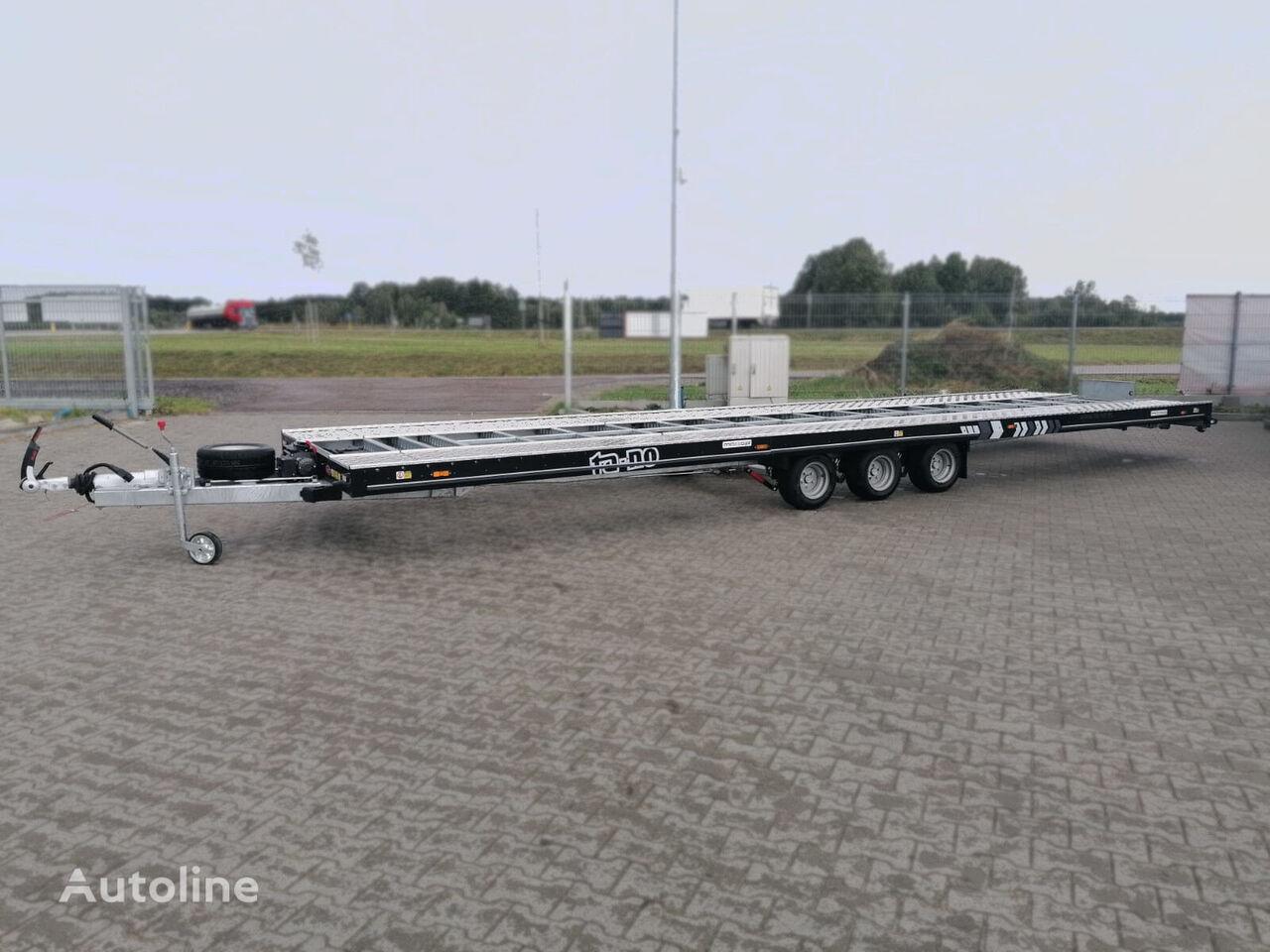 new 35.85 Premium! BLACK coated + electric winch! car transporter trailer