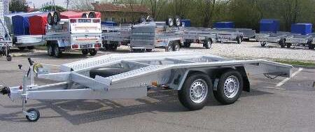 WEBER ST2700, trailer and semi trailer rental car transporter trailer