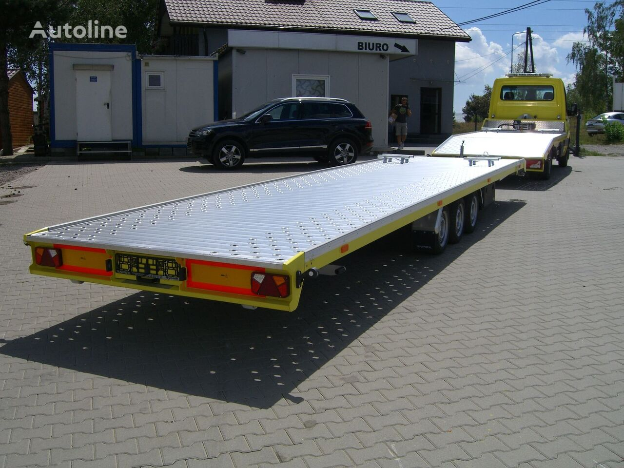 Autotransporter ALU, Knott, NPS 3,5T -2 Auto car transporter trailer