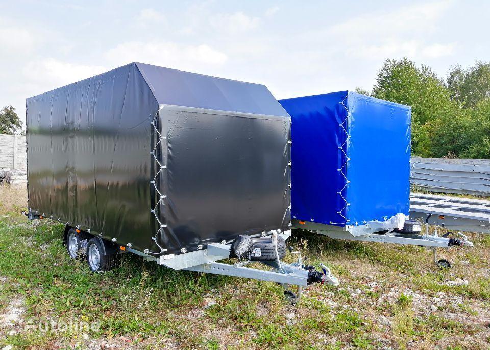 new Besttrailers WARIOR ze stelażem i plandeką car transporter trailer
