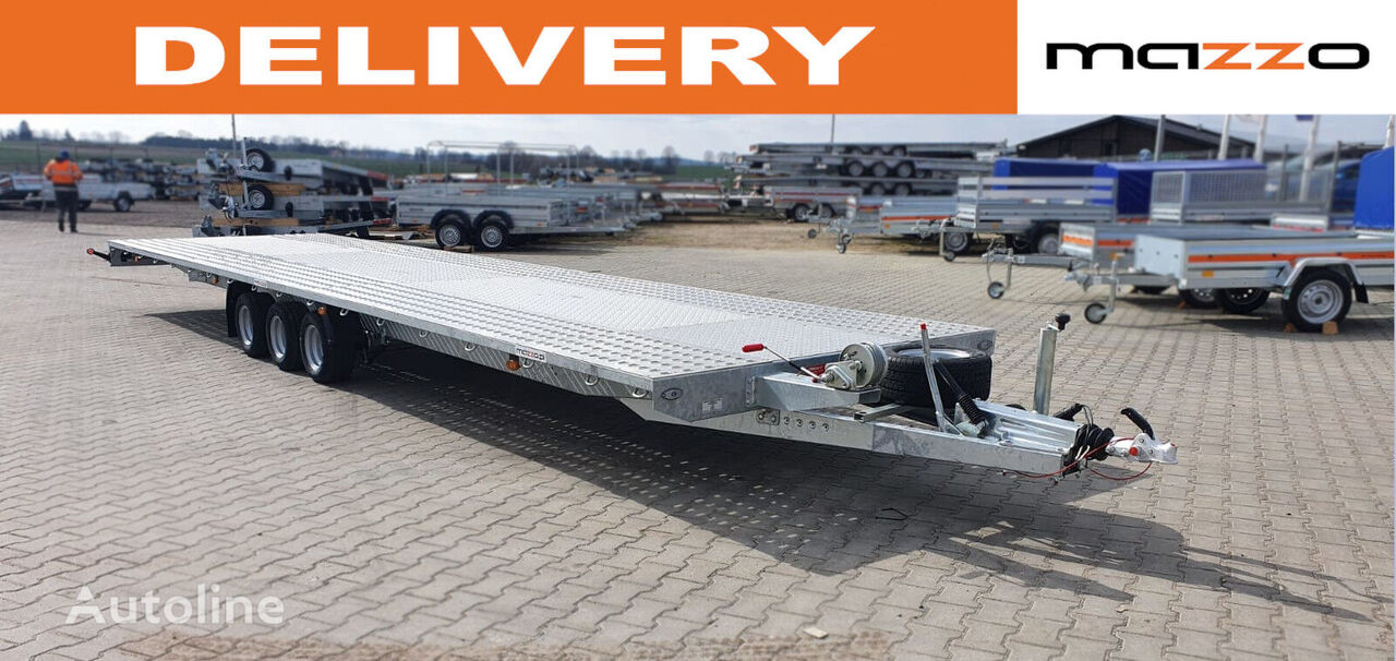 new I8535P 850x210cm Schock absobers + spare wheel GVW 3500kg platfo car transporter trailer