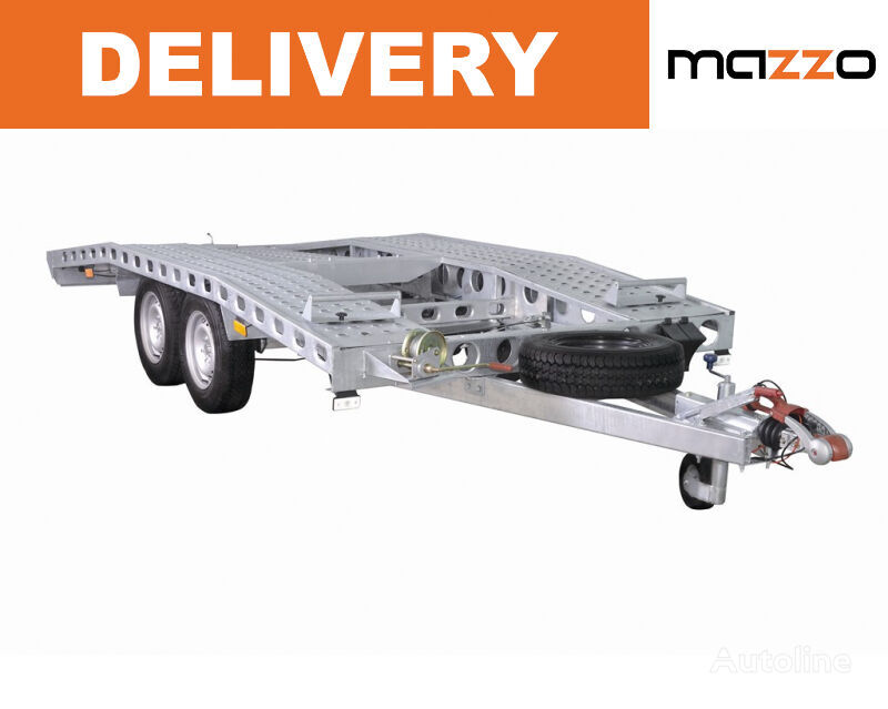 new L26G45 450x200cm strong welded swiss type car transporter trailer