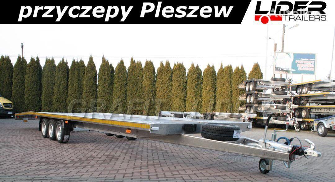 new LIDER LT-094 laweta 850x205cm ALUMINIOWA, do 2 pojazdów, ciężarowa, 3  car transporter trailer