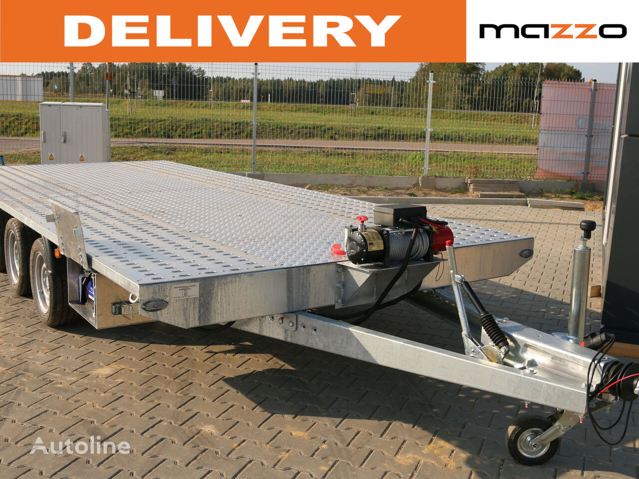 new MARS 5 x 2.1m 3500kg Electric winch car transporter trailer