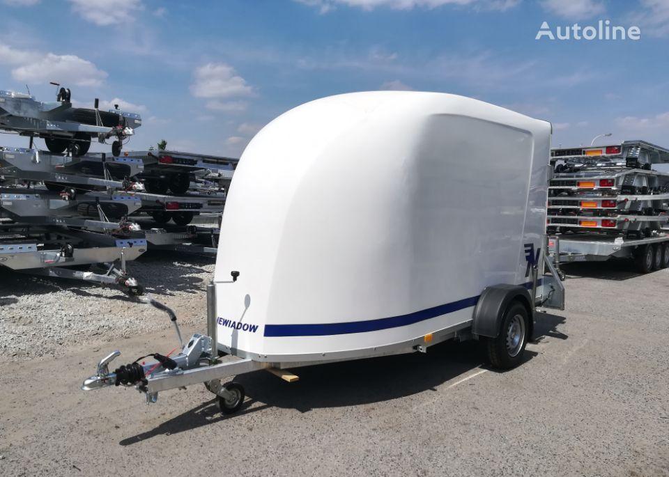 new NIEWIADOW Furgon F1334 z trapem wjazdowym car transporter trailer