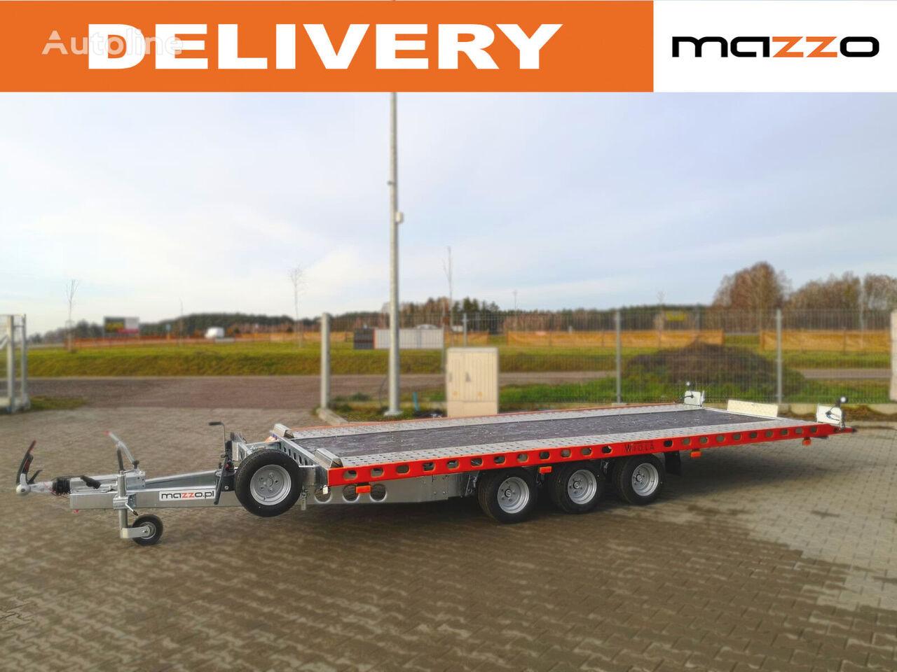new Wiola L35G50P 500x206cm three axles! Tilt / Kipper 3500kg car transporter trailer